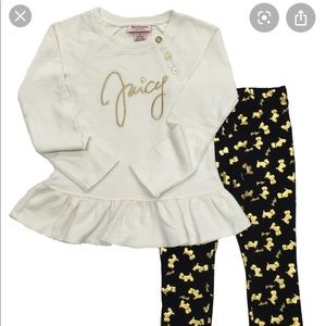 Juicy Couture Cream & Gold Doggy Outfit